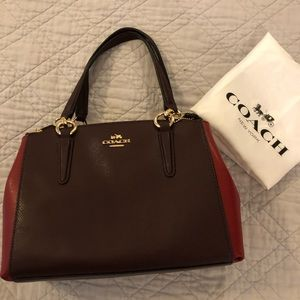 Authentic Coach color block handbag